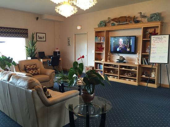 Depoe Bay, Oregón: Lobby guest area