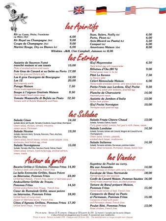 Brasserie  Restaurant Week Menu