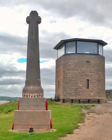 Holy Island, UK: Observation Tower atop the Heugh