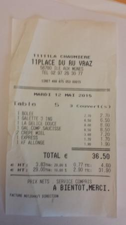 La Chaumieere: facture
