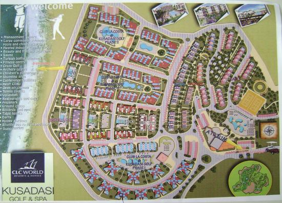Site Plan - Picture of CLC Kusadasi Golf & Spa Resort, Soke