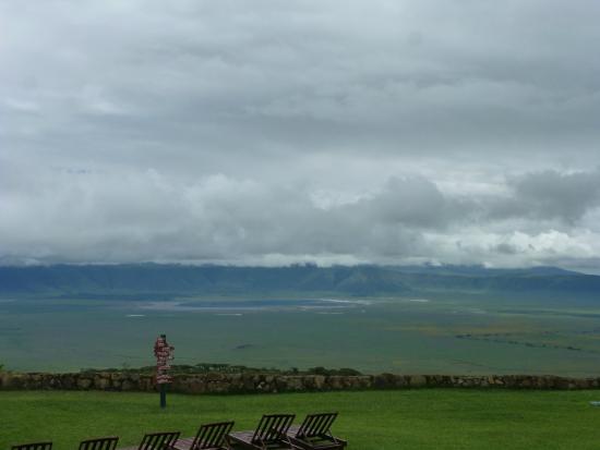 Ngorongoro Sopa Lodge: vue du jardin de l'hotel