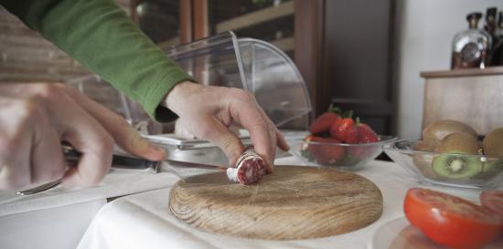 Bot, Španělsko: Desayuno con vistas