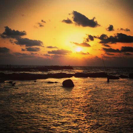 Al-Fanar Auberge: Le coucher du soleil vu depuis l'auberge.