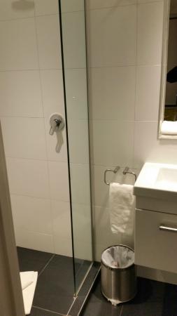 The Devon Hotel & Conference Center: Very small bathroom