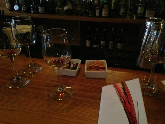 Cru Wine Bar: bar table