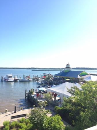 View From The Room Overlooking The Jetty Picture Of Hilton Garden Inn Kent Island Grasonville