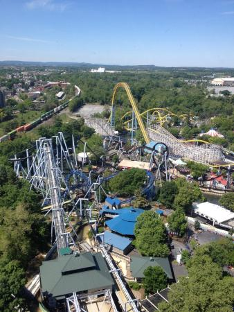 View From Kissing Tower At Hershey Park Picture Of