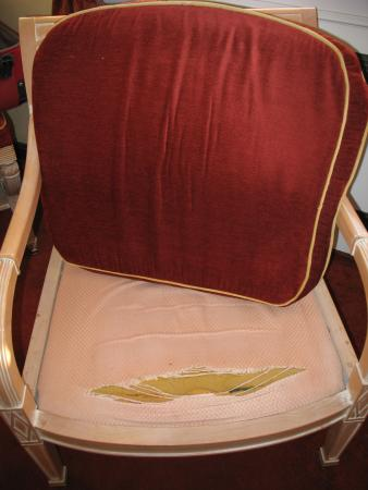 Fletcher Hotel-Restaurant Auberge De Kieviet : de gehavende zetel op  de slaapkamer in een 4 (?) sterren hotel