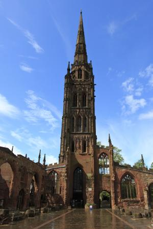 Coventry, UK: Ruins of the old cathedral