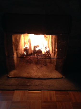 Brisco, Canada: Finally cold enough to enjoy the fire