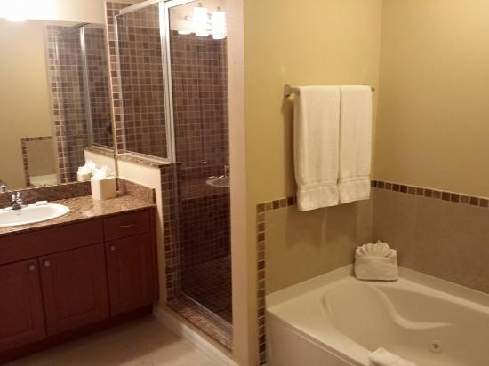 The Point Orlando Resort Bathroom With Great Separate Shower And Tub With Jets My