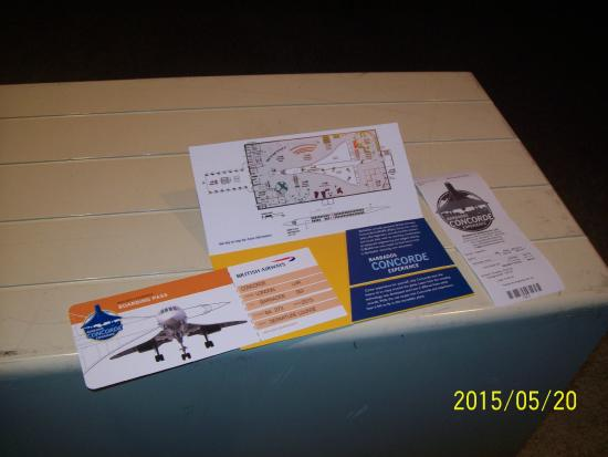 my boarding pass for my concorde flight picture of barbados
