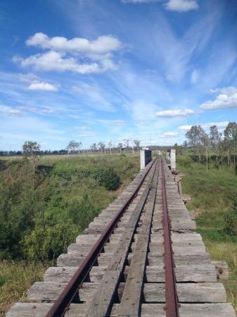 Brisbane Valley Rail Trail: Lots of old bridges and huge skies