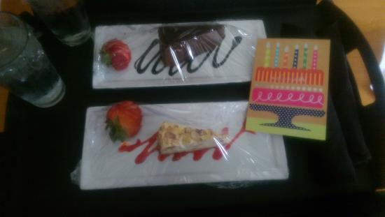 Sheraton Madison Hotel : Complimentary birthday surprise that the hotel provided