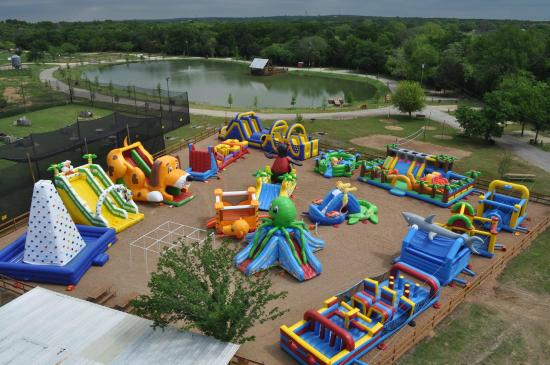 Texas' Largest Outdoor Inflatable Playground - Picture of ...