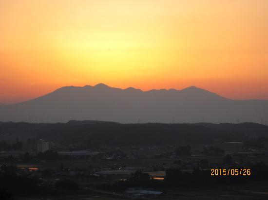 Nanpeidai Onsen Hotel: 那須連山と夕焼け