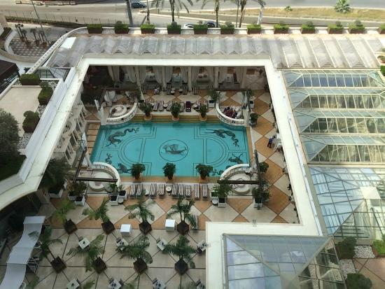 Phoenicia Hotel: View of pool area from room.