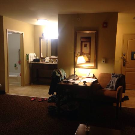 Hampton Inn & Suites Rochester - North: Very clean (despite my stuff strewn about.)