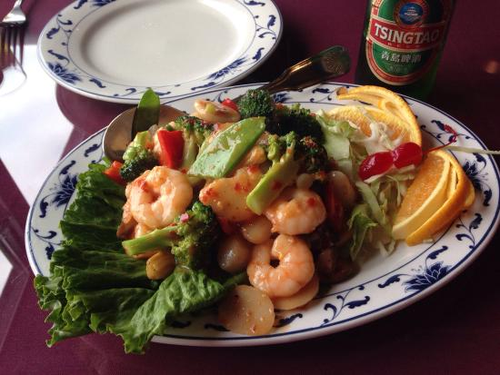 Golden Grill on the Bay: Rainbow Shrimp and Scallops