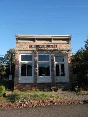 Kingston, NM: Old bank from original townsite