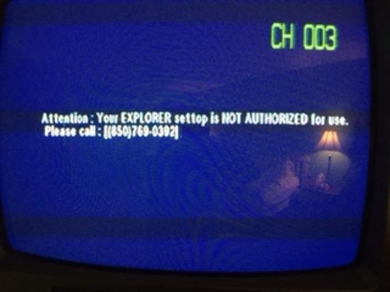 The Watercrest: Message on TVs and phone # for comcast not valid