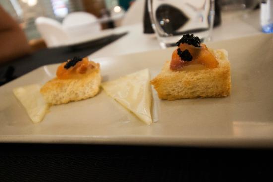 Hotel Regina Restaurant: Little amuse bouche