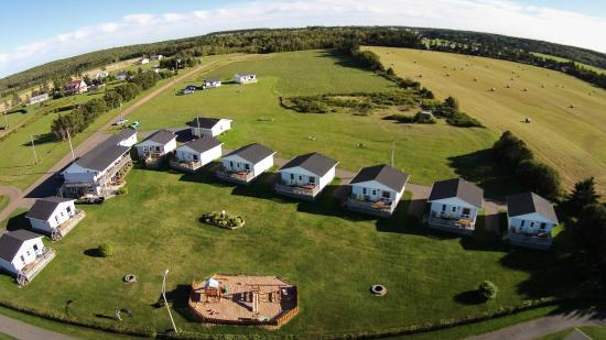 Cavendish Bosom Buddies Cottages and Suites: Aerial of Property