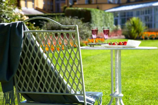 Dunraven Arms Hotel: Champagne in the Garden