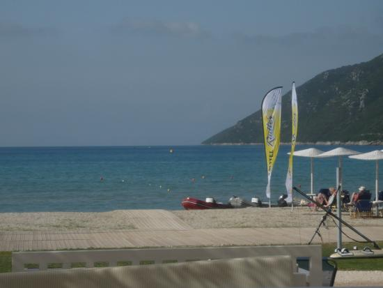 Neilson Cosmos Beachclub: View of the beach/activity set up area
