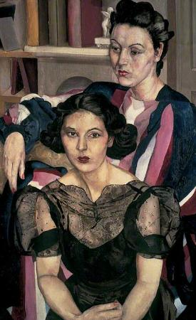 Stanley Spencer Gallery: The Sisters, 1940  Lent by Leeds Museums and Galleries (Leeds Art Gallery)
