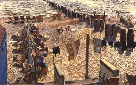 Southwold, 1937.  Loaned to the Stanley Spencer Gallery by Aberdeen Art Gallery and Museums Coll