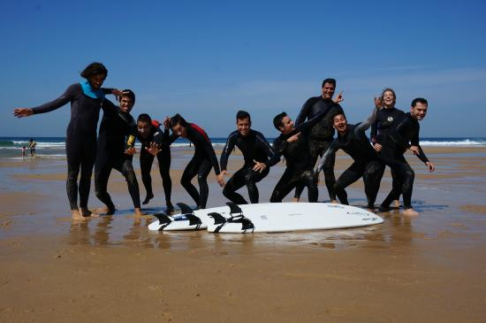 Charneca da Caparica, Portugal: Surfgroup craziness