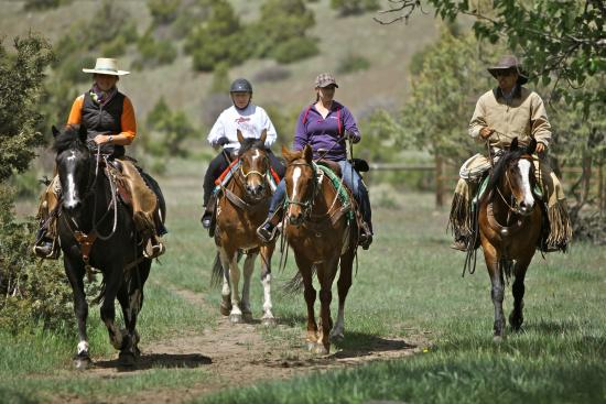 Mountain Sky Guest Ranch : Horseback Riding to the Lower Ranch
