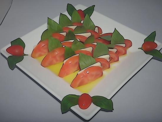 Hacienda Beach Restaurant: tomato mozarella
