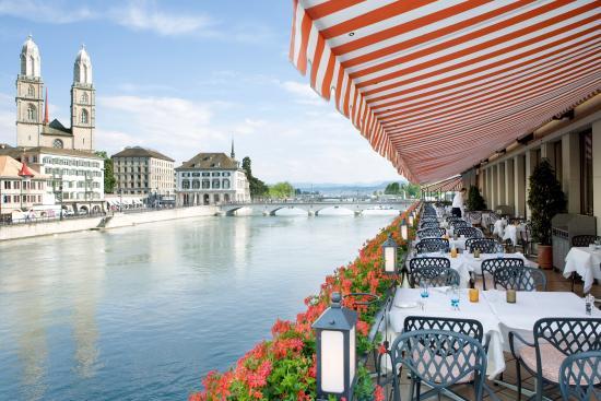 Storchen Zürich: Terrasse