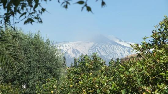 Agriturismo Il Limoneto: vue sur l'Etna depuis la terrasse