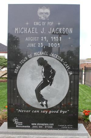 Gary, IN: Gedenkstein für Michael Jackson