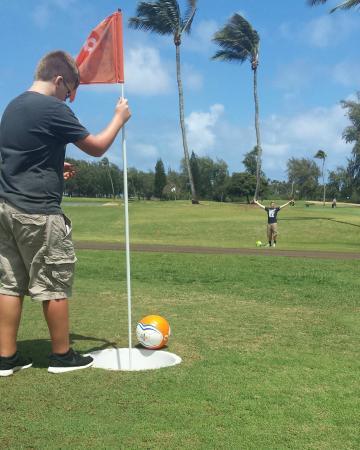 Moana Surfrider, A Westin Resort & Spa: Foot Golf at Turtle Bay