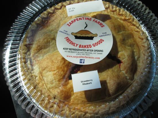 "Hilton, NY: 10"" Strawberry Rhubarb pie"