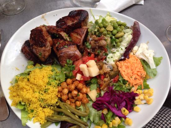 Le bistrot de Tatie Agnes : Magret crudités salade !