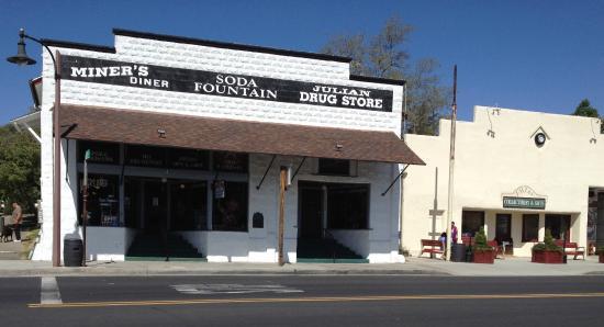 Miner's DIner on Main Street, formerly a drug store