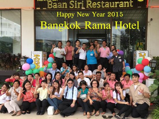 Bangkok Rama Hotel staff happy new year 2015