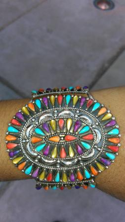 Thunder Eagle Native Art: multigem bracelet fr thunder eagle