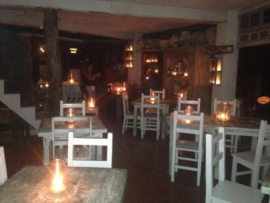Beautiful nighttime setting at Posada Margherita