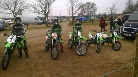 Mx Try Out: Getting ready to ride.