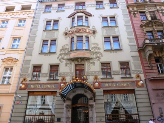 Historic art nouveau facade picture of k k hotel central for Central prague