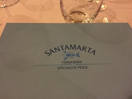 Ristorante Santa Marta: Menu cover