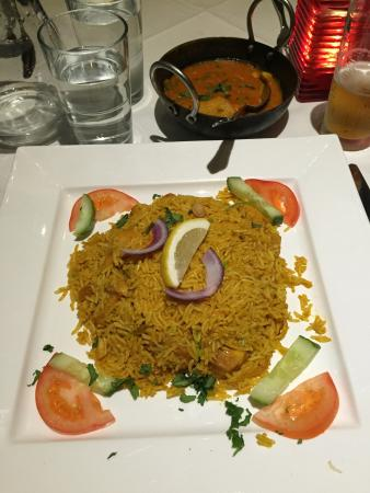 Royal Tandoori: Delicious tandoori grill and Biryani rice dish.