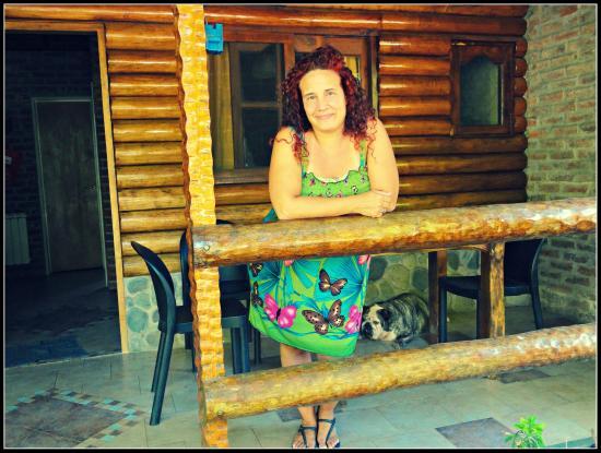 Los Platanos, Cabanas y Suites: Patio y parrilla...